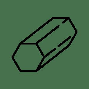 Šešiabriaunis kalibruotas plienas
